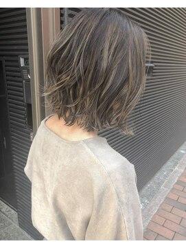 ヴィークス ヘア(vicus hair)冬髪「ディープブルージュ×ハイライト」by 田渕 英和