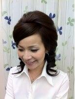 盛り髪(盛りヘア)の大人目盛りヘアー画像