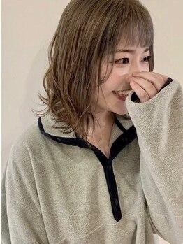 アモン 小倉駅前店(amon)の写真/【小倉駅徒歩1分】第一印象を左右する顔周りのスタイルへの徹底したこだわり技術で似合うを引き出す♪