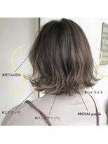 スーベニール(souvenir)■白髪対応■シルバーミルクティーエアタッチバレイヤージュ