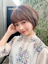 ノット(Knot)【knot阿部展大】大人かわいい小顔丸みひし形ショートボブ☆