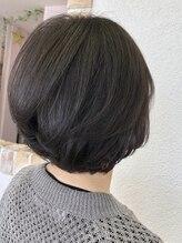ドゥ スタイル 三国ヶ丘店(Duex Style)ミセス【白髪染め】アドミオカラー ブルーグリーン×ベージュ