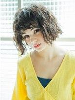 暗髪girl'sパーマ