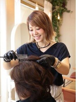 アニー(annie)の写真/ダメージを気にせず、思い通りの髪色を楽しめる♪annie自慢のオーガニックカラー&イルミナカラー★