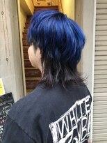 マッシュウルフ × ブルー ツートーン