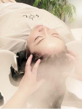 ヘアーサロン ソル(HAIR SALON SOL)の写真/本格SPAを習得した高い技術力で、心も癒される贅沢な癒しのひと時をお届け。健やかで美しい髪をあなたに…