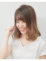 エイム ヘアメイク 横川店(eim HAIR MAKE)やわらかベージュがかわいい☆フェミニンミディ