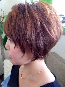 ヘアサロン シェア(hair asalon Share)の写真/《久々登場◆飾磨》360度美フォルム叶う♪思い切ったショートはShare‐シェアで!トップからふんわりstyle