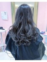 モード ケイズ 塚本店(MODE K's)デザインカラー ロングダークアッシュ暗髪