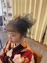 造作髪飾り 卒業式ヘアセット