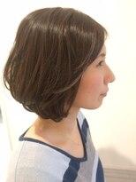 ヘアー カラー キー(HAIR color KEY)バルーン美女ボブ