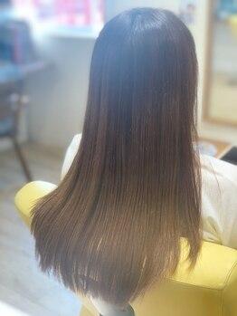 リオン 鼓滝店の写真/【鼓滝駅徒歩30秒/コロナ対策◎】最高級髪質改善トリートメント《TOKIO》取り扱い店!理想のうるツヤ髪へ♪