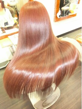 ヘアアンドメイク エンジェル 川越(HAIR&MAKE Angel)エステストレート&M3Dカラー。艶髪スーパーロング