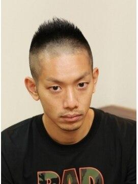 ヘアーサロン ピアニカ(hair salon PIANiCA)男気120%モヒカン風デザインボウズ