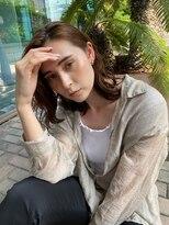 ヘアーリゾート マッシブ 大宮(MASSIVE)濡れ髪透け感かきあげ前髪ハイライトカラー MASSIVE大宮
