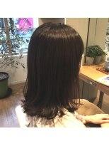 ハブコヘアスパ(HaBCo hair spa)グレージュカラー×レイヤー外ハネBOB