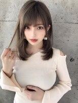 アフロート ルヴア 新宿(AFLOAT RUVUA)デザインカラーで透明感バツグンのロング☆#無造作カール