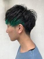 ヘアー アイス カンナ(HAIR ICI Canna)マッシュ×グリーン