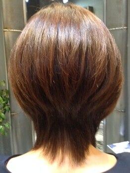 美容室 アヴァンセ(AVANCER)の写真/乾かしただけで立体的なシルエットが決まり、髪を美しく見せる『ニューヨークドライカット』が人気!