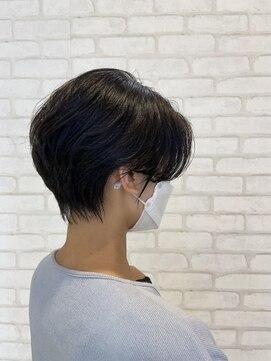 ビス ヘア アンド ビューティー 西新井店(Vis Hair&Beauty)20代30代大人かわいい黒髪くびれ前下がりハンサムショート♪