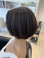 ヘアーサロン リアン 熊谷2号店(hair salon Rien)ショートボブ×ハイライト