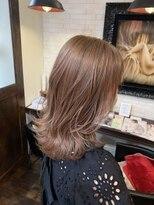 ボアップ(boappu)#ミルクティーベージュ#ブリーチ#髪質改善