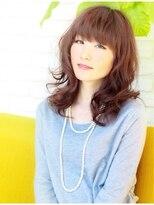 ジーナハーバー(JEANA HARBOR)大人ミディアム無造作カール☆厚めバングで5歳若く☆