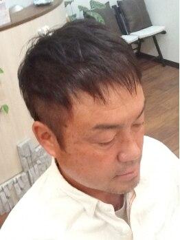 エムズヘアー(M'z hair)の写真/≪平日カット最終受付18:00≫新社会人からお父さん世代にお勧め!清潔感があり自宅でのセット簡単ヘア。