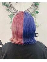 ヘアーサロン エール 原宿(hair salon ailes)(ailes 原宿) サファイア×ピンク
