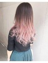 【Marl】ホワイトピンクのハイライトグラデーションカラー♪