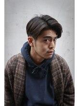 オムヘアーゼロ(HOMME HAIR Zero)グランジパートスタイル 【 パーマ 七三分け 刈り上げ 】