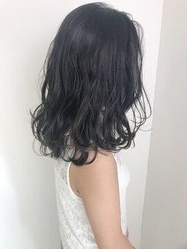 ダークブルーアッシュのヘアカラー☆:L020739621|ヘアー
