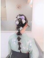 プリマベーラ(Primavera)卒業式のヘアセット・はかま着付け 26
