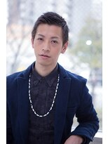 銀座マツナガ 箱崎店(GINZA MATSUNAGA)【マツナガ箱崎】黒髪ボウズ風アップバングショート