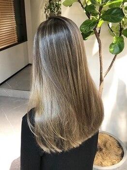 ロニカ 銀座(LOuNICA)の写真/SNSで話題の【TOKIOトリートメント】ご用意★驚異の毛髪強度回復率!シルクのような手触りの美髪へ♪