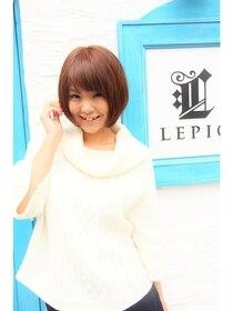 ルピック(Lepic by chiffon)モーブカラー×ワイドバングのスポンテニアスくびれミディ錦糸町