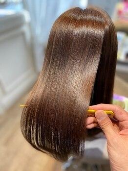 """ブレスヘアーデザイン(BLESS HAIR DESIGN)の写真/東京初《美革ストレート》認定サロン☆オーダーメイドの薬剤で""""あなただけのキレイ""""を叶えます♪"""