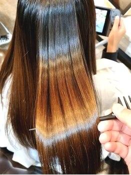 グラソリエント 夙川店(Grasolient)の写真/日々のダメージや広がりも徹底ケア。次世代縮毛矯正で芯から潤うあなた史上最高の美髪へ導きます!