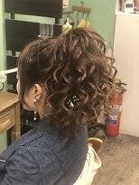 ヘアセットサロン アトリエ チャイ(Hair set salon atelier CHAI)ぼりゅーむポニーテール♪