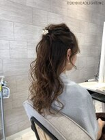 フローレス バイ ヘッドライト 三鷹店(hair flores by HEADLIGHT)ハーフアップ×シアベージュ