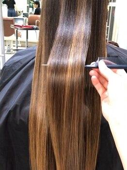 アービング(a'bing)の写真/サイエンスアクアでプレミアム髪質改善◎指通りが良く艶やかな質感でふとした瞬間の自分の髪が好きになる♪
