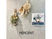 パーセント(percent)