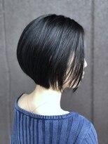 大人 ボブ キレイ目ショート【小玉学】 黒髪ショートボブ