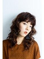 テラスヘア(TERRACE hair)TERRACE hair 2019 autumn style ビターオレンジ×ネオウルフ