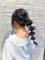 ビス リアン 川口店(Vis lien)ラベンダー/ブリーチ/大人かわいい/丸み/ヘアセット/小顔/前髪