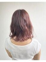 ヘアメイク オブジェ(hair make objet)pink×purple インナーカラー