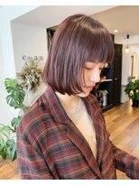 シアン ヘア デザイン(cyan hair design)【cyan】プラムピンク×ボブ