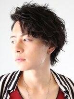アース 花巻店(HAIR&MAKE EARTH)クールなサイドパートショート