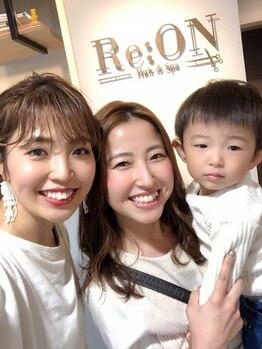 レオン(Re:ON)の写真/オシャレママ必見!お子様と通えるサロン。美ママは皆でつくれる!1人で頑張りすぎずリラックスしてキレイに