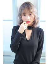 ジーナギンザ(Zina GINZA)☆Zina☆フリンジバングのブルージュくびれミディ